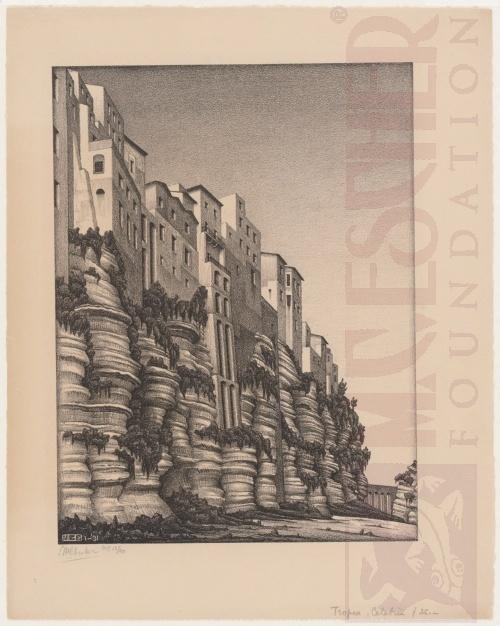 Tropea, Calabria. Januari 1931, Lithografie