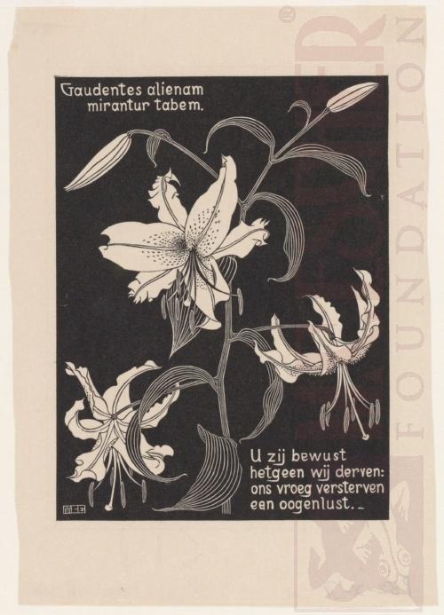 Bloemen (zie ook LW162). Maart-Juni 1931, Houtsnede