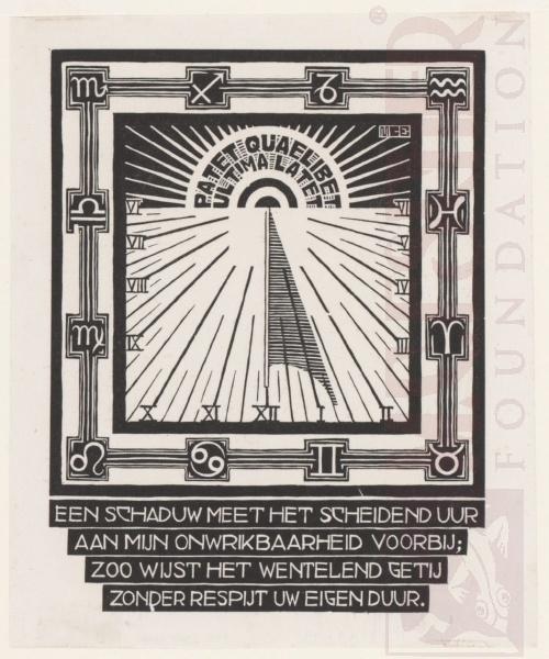 Zonnenwijzer (zie ook LW 169). Maart-Juni 1931, Houtsnede