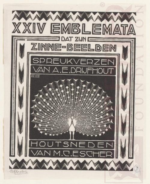 Emblemata, tweede titelpagina. Maart- Juni 1931, Houtsnede