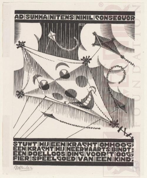 Emblemata, Vlieger. Maart-Juni 1931, Houtsnede