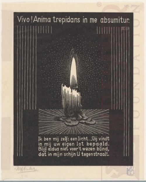 Emblemata, Kaars. Maart-Juni 1931, Houtsnede