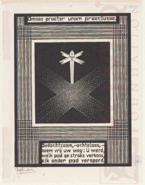 Emblemata, Wegwijzer. Maart-Juni 1931, Houtsnede