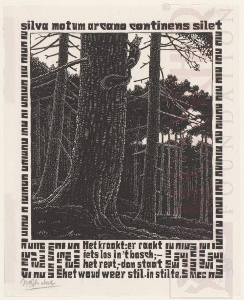 Emblemata, Eekhoorn. Maart-Juni 1932, Houtsnede