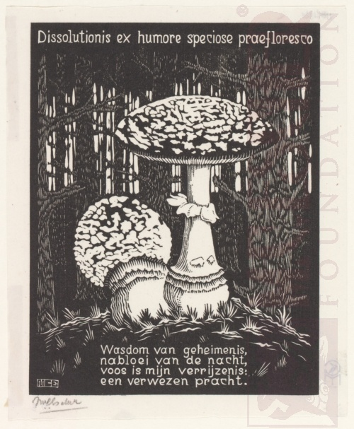Emblemata, Paddenstoel. Maart-Juni 1931, Houtsnede