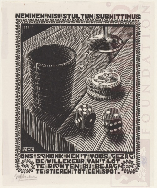 Emblemata, Dobbelstenen. Maart-Juni 1931, Houtsnede