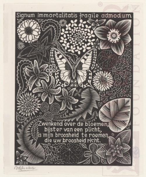 Emblemata, Vlinder. Maart-Juni 1931, Houtsnede