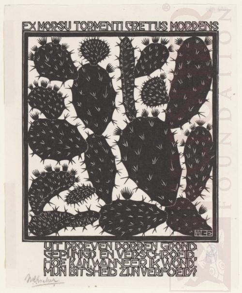 Emblemata, Cactus. Maart-Juni 1931, Houtsnede