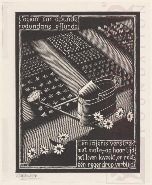 Emblemata, Gieter. Maart-Juni 1931, Houtsnede