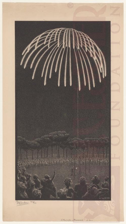 Vuurwer. November 1933, Lithografie