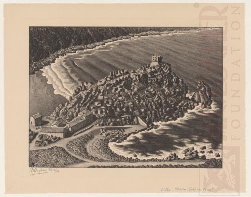 Golf van Porto, Corsica. December 1933, Lithografie