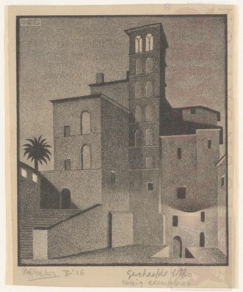 Giovanni e Paolo. Rome. Mei 1936, Lithografie