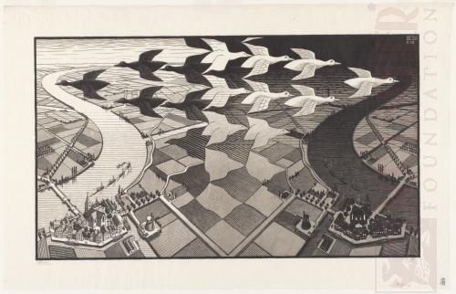 Dag en Nacht. Februari 1938, Houtsnede