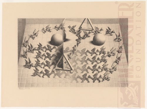 Toverspiegel. Januari 1946, Lithografie