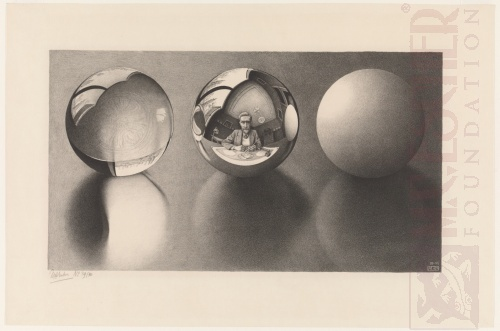 Drie bollen II. April 1946, Lithografie
