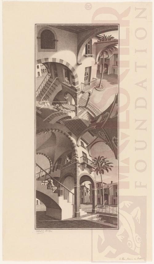 Op en Neer. Juli 1947, Lithografie