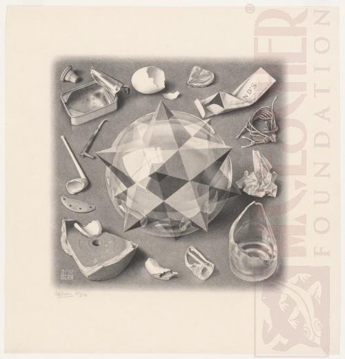 Contrast (order en chaos). Februari 1950, Lithografie