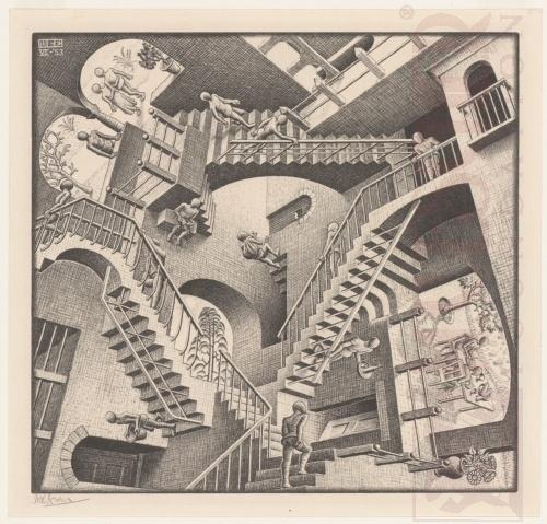 Relativiteit. Juli 1953, Lithografie