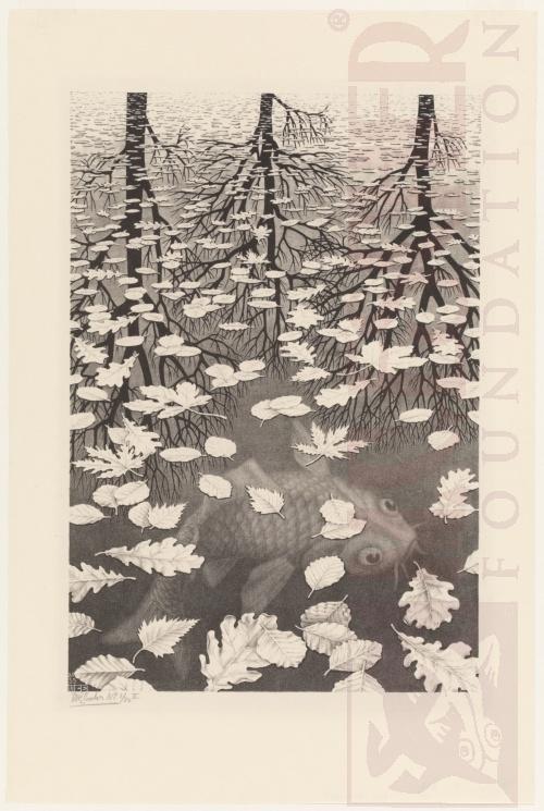 Drie Werelden. December 1955, Lithografie