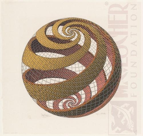 Spiralen bolo. Oktober 1958, Houtsnede
