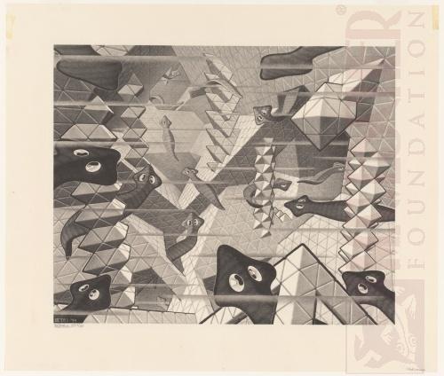 Platte wormen. Januari 1959, Lithografie
