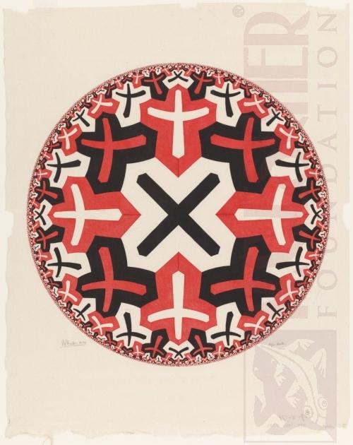Cirkel limiet II. Maart 1959, Houtsnede van twee blokken