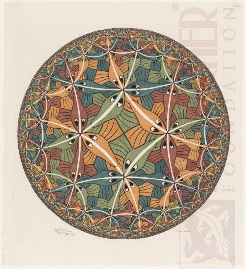 Cirkel limiet III. December 1959, Houtsnede van vijf blokken