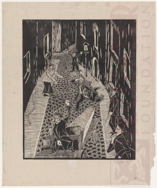 Sprookje. 1920, Houtsnede