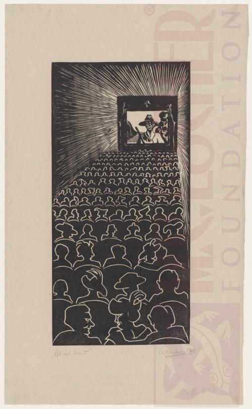 Wilde Westen. 1920, Houtsnede