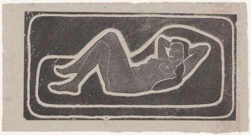 Liggend vrouwelijk naakt. 1920 of 1921, Lithografie