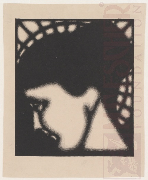 Portret van Roosje Ingen Housz. 1920 of 1921, Lithografie