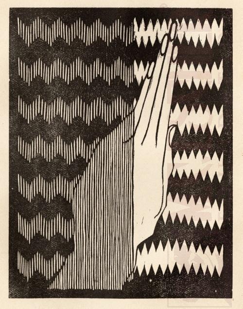 Madonna. 1921, Houtsnede