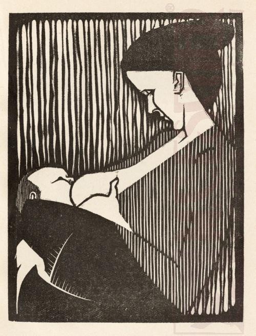 Liefde. 1921, Houtsnede